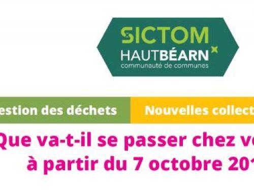 Réorganisation des collectes au 7 octobre